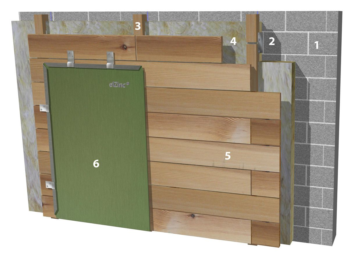 France wall constructions shingle on soft wood boarding