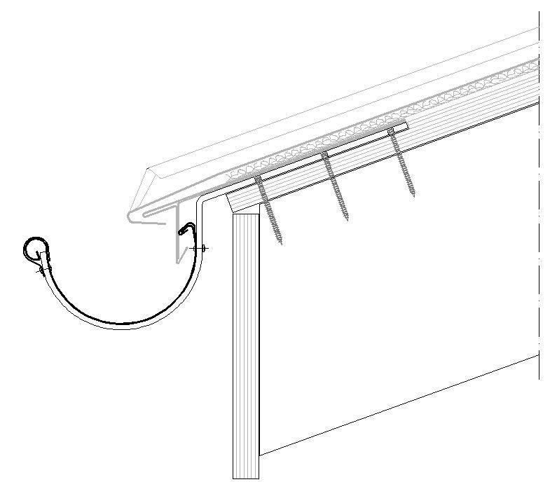 half round gutter with roof fitted bracket