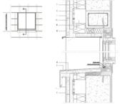 Vertikaler Fensterdurchschnitt mit Belüftung an der Fensterbank