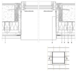 Horizontaler Fensterdurchschnitt mit Belüftung an der Fensterbank