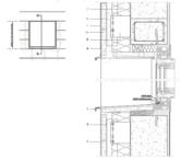 Vertikaler Fensterdurchschnitt ohne Belüftung an der Fensterbank