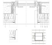 Vertikaler Fensterdurchschnitt ohne Belüftung an der Fensterbank.