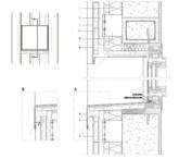 Vertikaler Fensterdurchschnitt mit Belüftung an der Fensterbank.