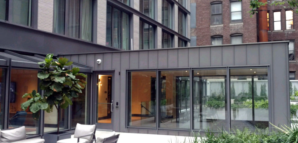 atrium building ny usa elzinc slate cladding. Black Bedroom Furniture Sets. Home Design Ideas