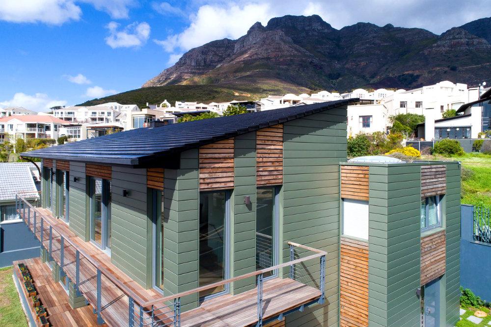 Cape town elzinc rainbow green